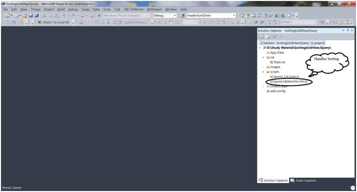 ASP Net Grid View Sorting using jQuery – Code Teddy