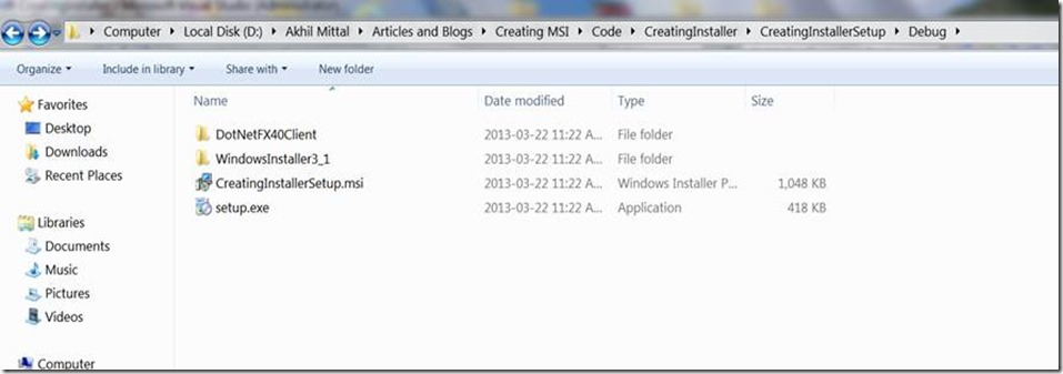 Creating an MSI Package for C# Windows Application Using a Visual
